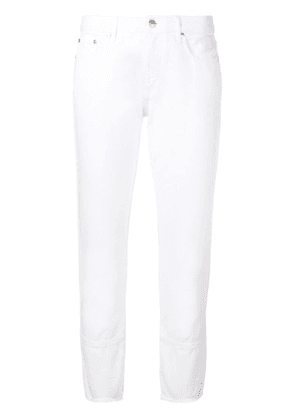 MSGM slim fit cropped jeans - White