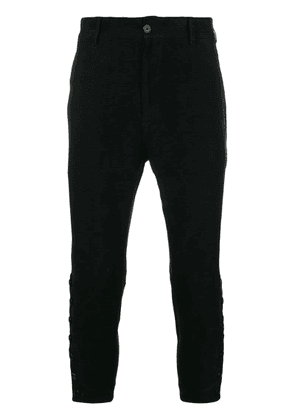 Ann Demeulemeester cropped tapered trousers - Black