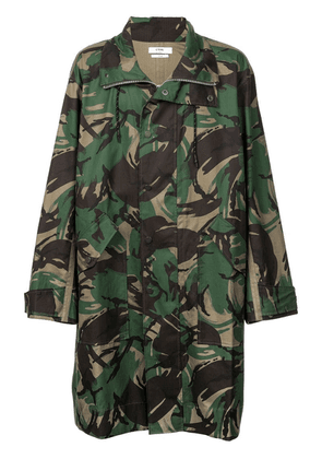 Cmmn Swdn camouflage print coat - Green