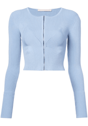 Jason Wu Collection zipped cropped cardigan - Blue