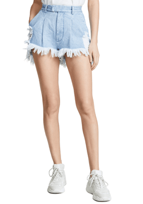 Ksenia Schnaider Distressed Shorts