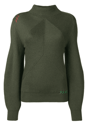 Carven structured knit sweater - Green