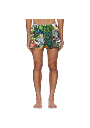Dolce and Gabbana Multicolor Giardino 2 Swim Shorts