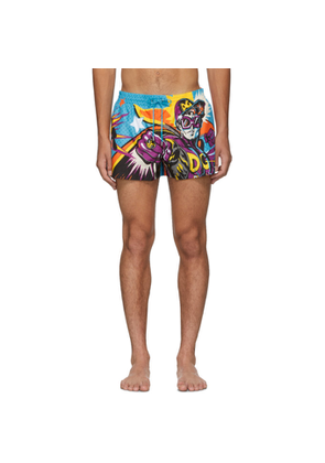 Dolce and Gabbana Multicolor Superhero King Swim Shorts