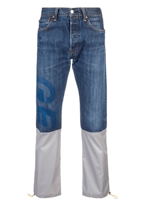 Geo reconstructed denim jeans - Blue