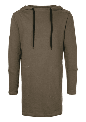 First Aid To The Injured long line hoodie - Green