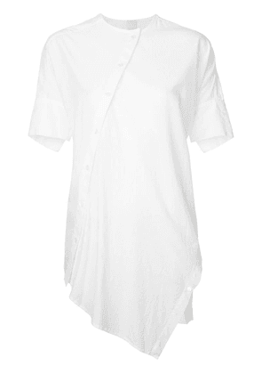 Forme D'expression asymmetric oval shirt - White