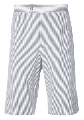 Moncler striped knee length shorts - Grey