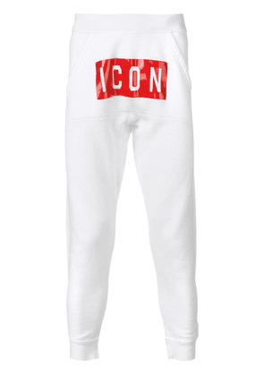 Dsquared2 Icon print track pants - White