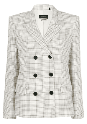 Isabel Marant checked double-breasted blazer - Neutrals