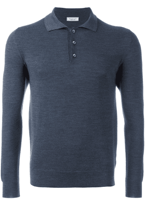 Fashion Clinic Timeless lonsleeved polo shirt - Blue