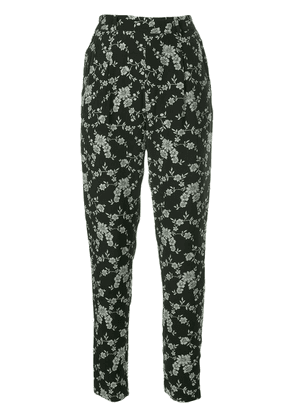 Co floral print tapered trousers - Black