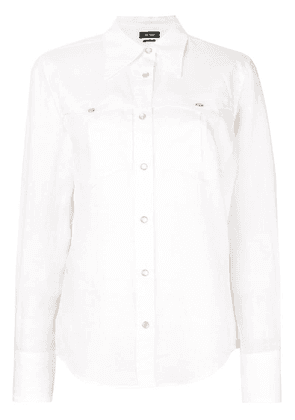 Isabel Marant pointed collar ramie shirt - White