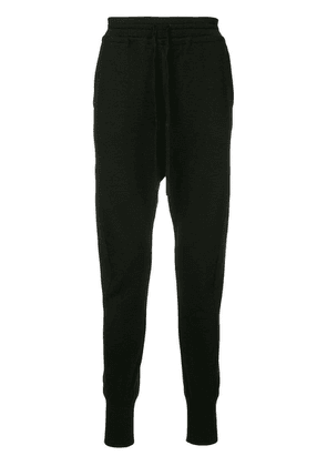 Forme D'expression blousoned curved leg trousers - Black