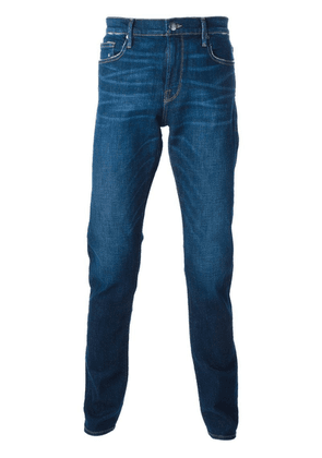 FRAME distressed straight fit jeans - Blue