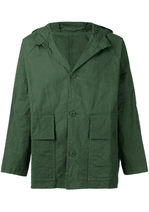 Casey Casey hooded military jacket - Green