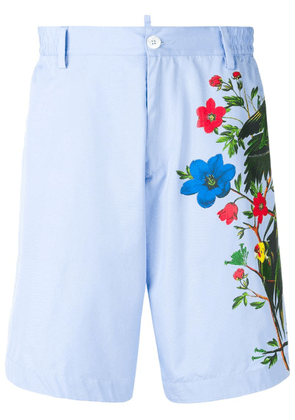 Dsquared2 jungle print bermuda shorts - Blue