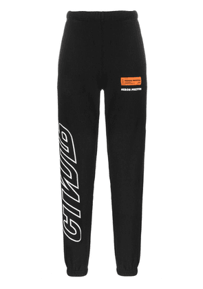 Heron Preston Logo printed track pants - Black