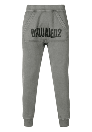 Dsquared2 logo panel track pants - Grey