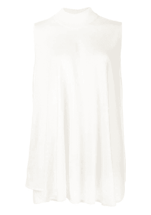 Giambattista Valli flared sleeveless top - Neutrals