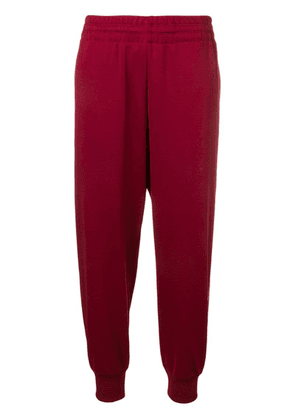 Y-3 side stripe track pants - Red