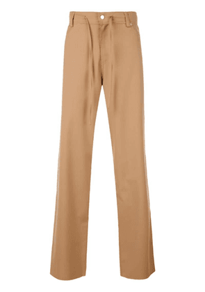 Cmmn Swdn camel flared trousers - Brown