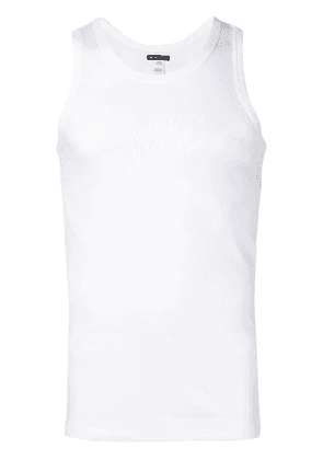 Ann Demeulemeester Holy embroidered tank top - White