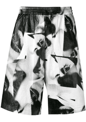 Dsquared2 eye print shorts - Black