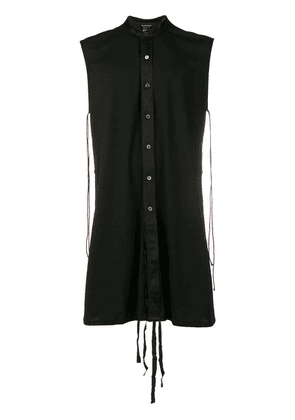 Ann Demeulemeester adjustable long shirt - Black
