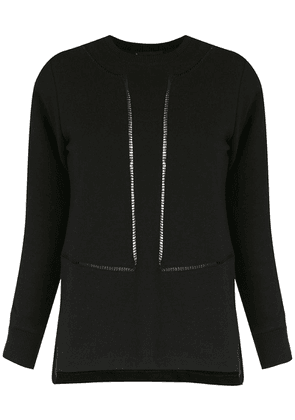 Andrea Bogosian perforated knit blouse - Black