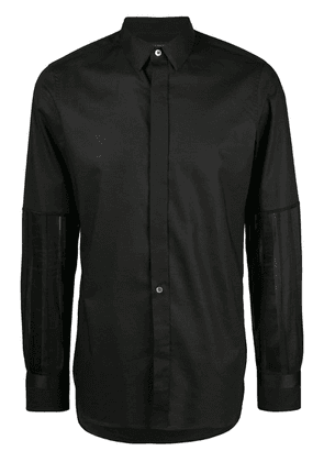 Ann Demeulemeester long-sleeve fitted shirt - Black