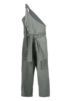 The Viridi-Anne asymmetric pinafore trousers - Grey