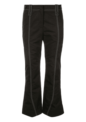 Givenchy stitch detail kick flared trousers - Black