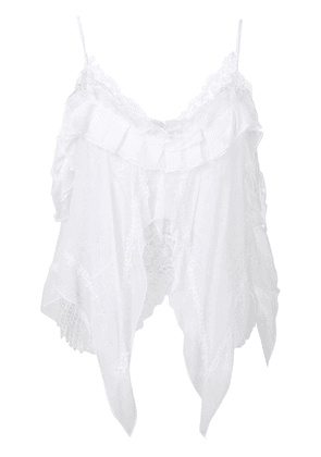 Ermanno Scervino asymmetric lace top - White