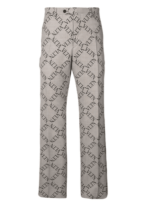 Valentino checked logo tailored trousers - Neutrals