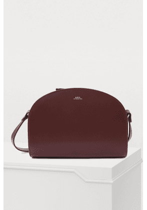 Half-moon bag in glossy smooth leather
