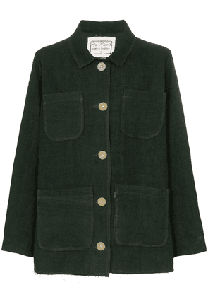 By Walid Linda four pocket linen jacket - Green