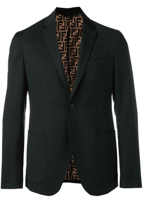Fendi single-breasted blazer - Black