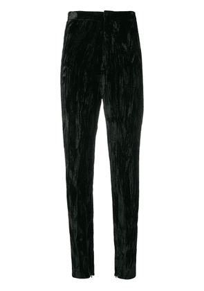 Saint Laurent wrinkled effect trousers - Black