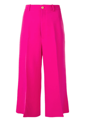 Gucci cropped straight trousers - Pink
