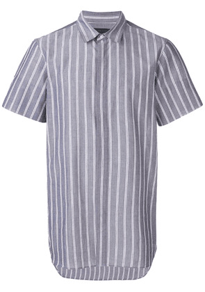 Ann Demeulemeester striped shortsleeved shirt - Blue