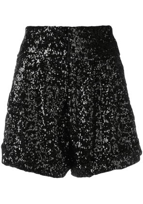 Isabel Marant Orta sequin shorts - Black