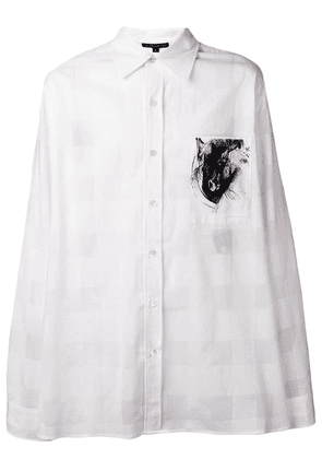 Ann Demeulemeester checked shirt - White