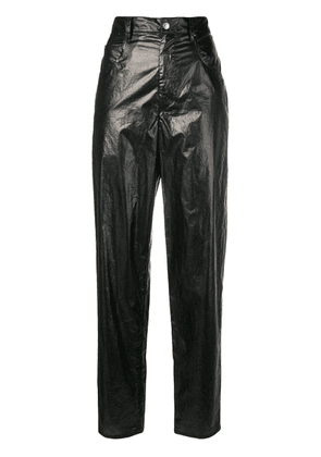 Isabel Marant Torsy metallic trousers - Black