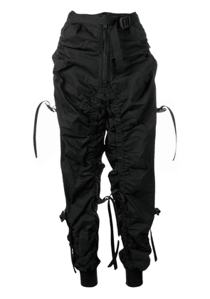 Dsquared2 buckle and strap detail track pants - Black