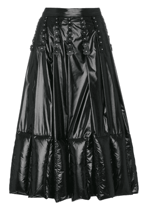 Moncler Pleated and Quilted Midi Skirt - Black