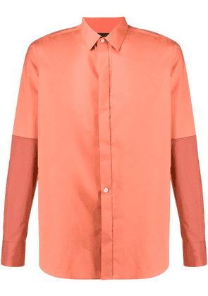 Ann Demeulemeester two-tone shirt - Orange