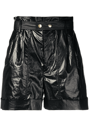 Isabel Marant high waisted belted shorts - Black