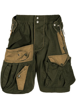 Dsquared2 cargo panelled shorts - Green