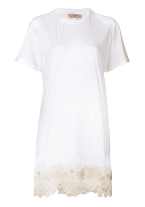 Twin-Set lace hem dress - White